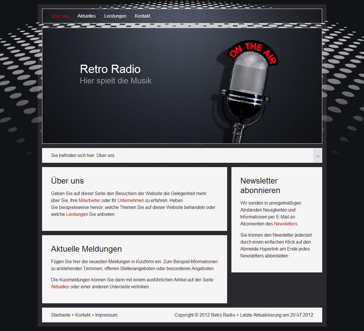 firma homepage erstellen professionelle websites erstellen. Black Bedroom Furniture Sets. Home Design Ideas