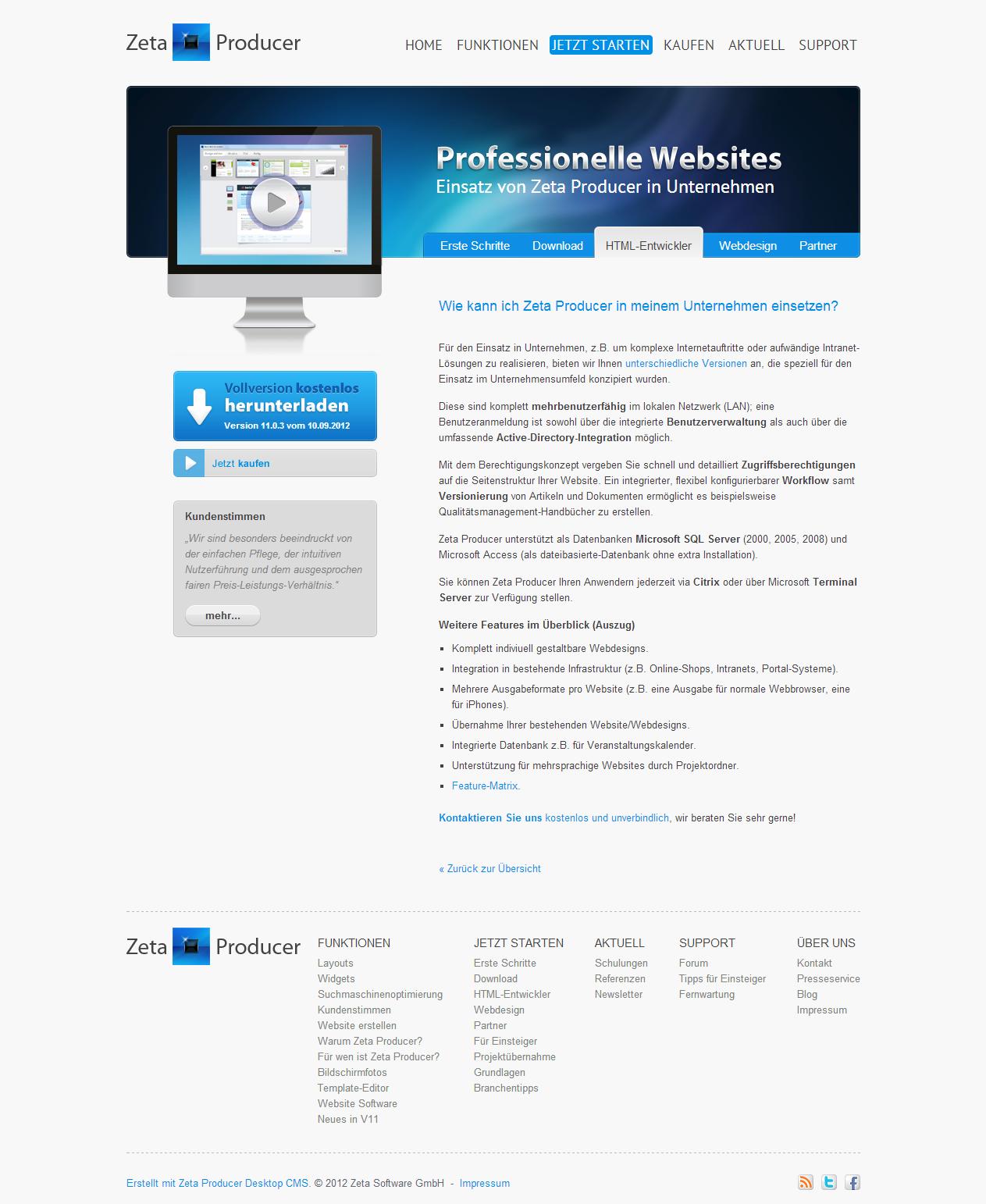 homepage erstellen software professionelle websites