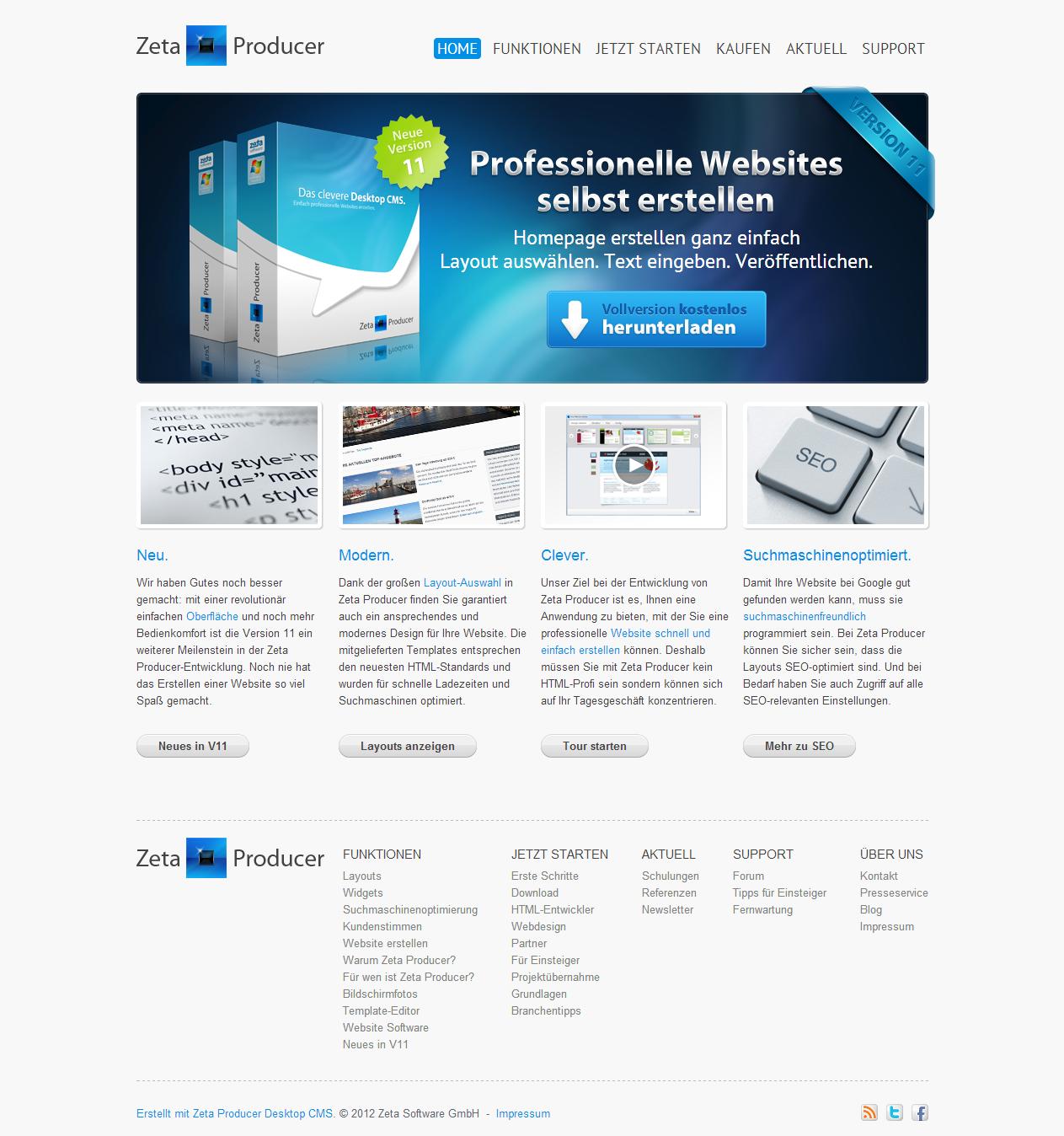 Internetseite erstellen Programm