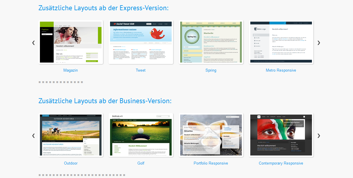 CMS Template – Professionelle Websites erstellen