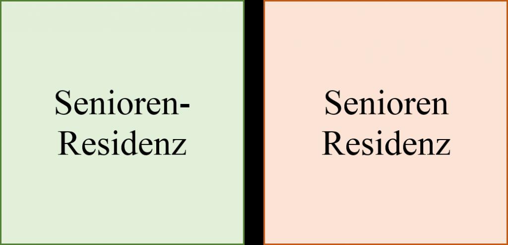 Leerzeichen in Komposita