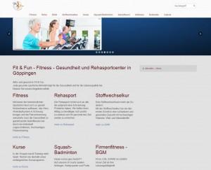 Fitness-Website-Beispiel