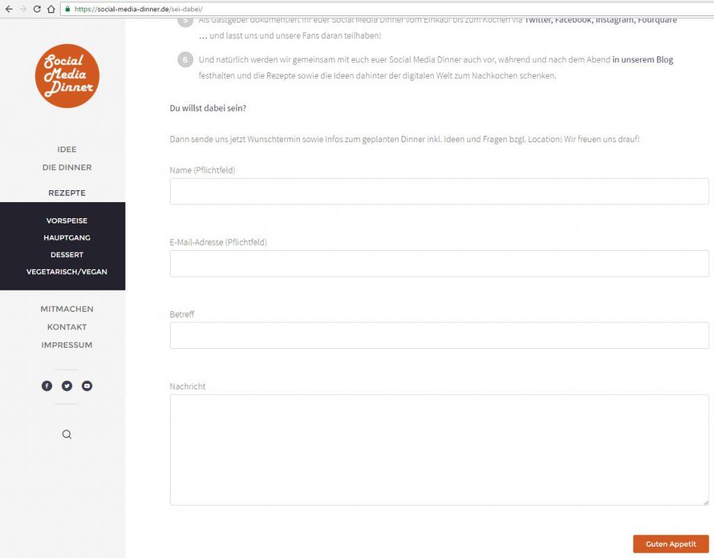 Kochrezepte-Website erstellen