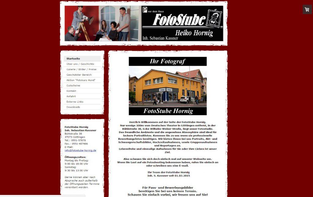 Startseite der FotoStube Hornig