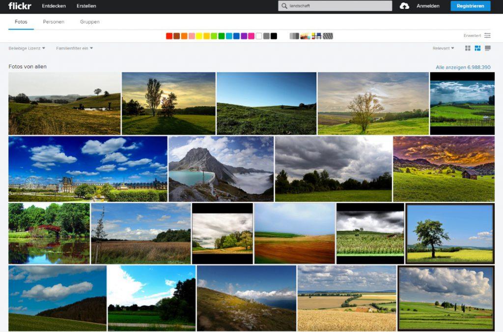 Landschaftsbilder auf Flickr