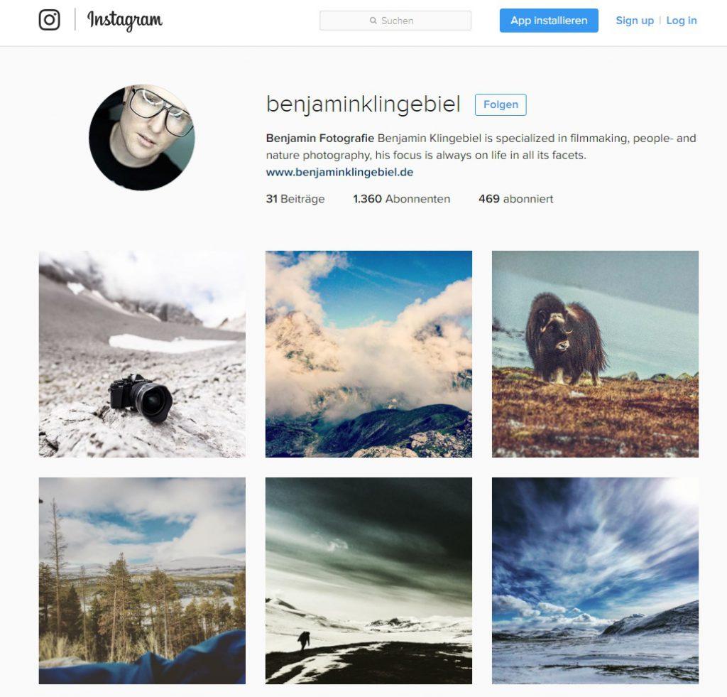 Fotograf auf Instagram