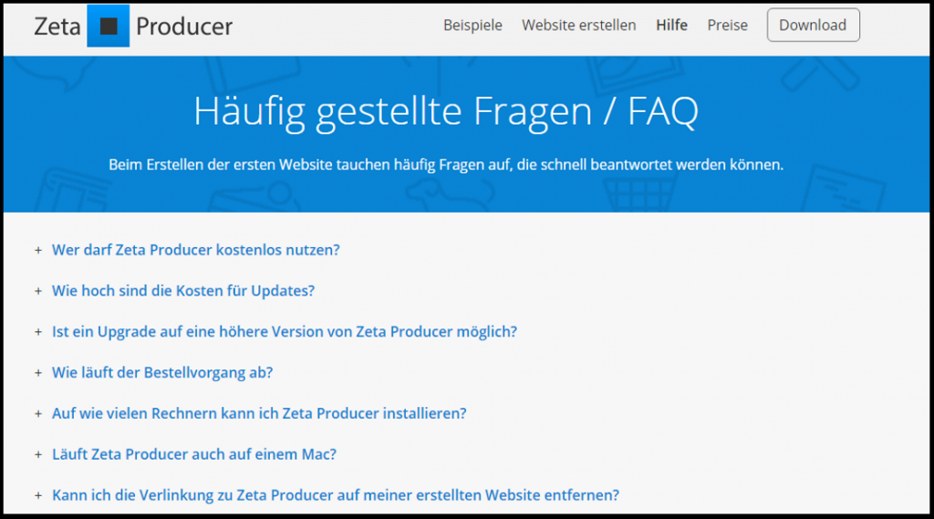 FAQ-Beispiel
