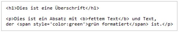 Beispiel für Quellcode