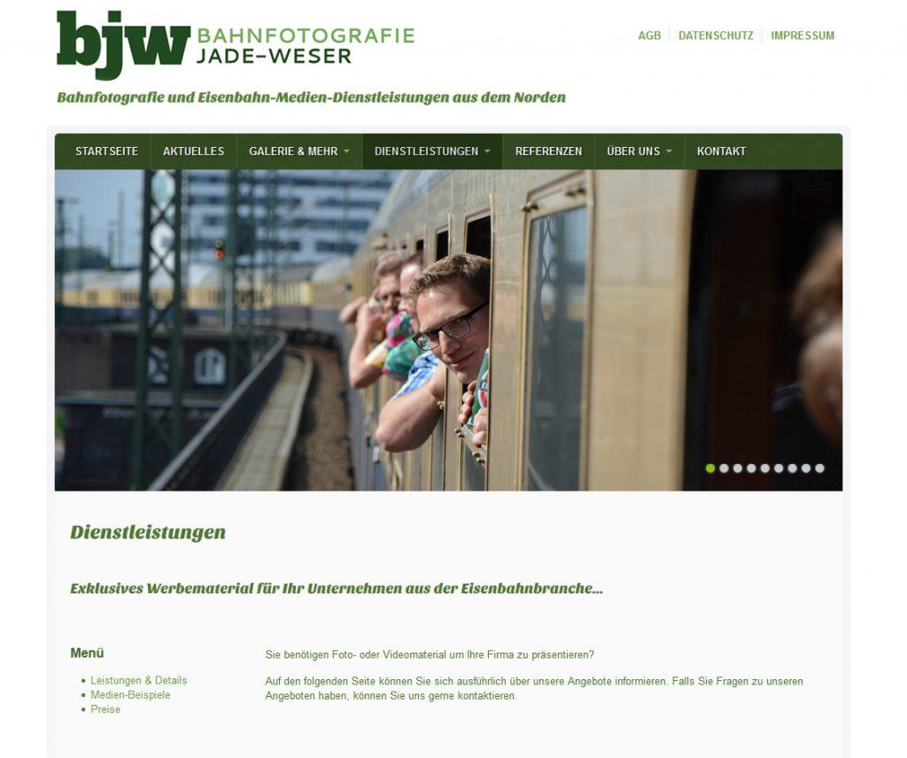 bahnfotografie-jade-wesser.de Screenshot