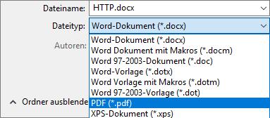 Speicher-Vorgang von einer PDF