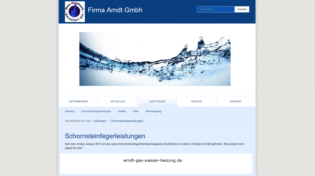 schornsteinfeger website erstellen